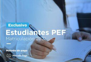 Estudiantes PEF | Pago Matriculación 2021